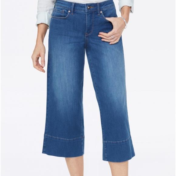 NYDJ Wide Leg Capri Jean size 2